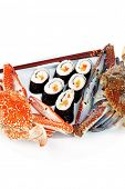 stock photo of blue crab  - Japanese Traditional Cuisine  - JPG