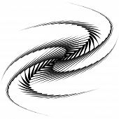 picture of octopus  - Design monochrome whirl movement octopus background - JPG