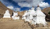stock photo of jammu kashmir  - Stupas in Leh  - JPG