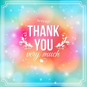 picture of gratitude  - Thank you card on soft colorful background - JPG