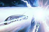 picture of headlight  - Close up image of car headlight - JPG