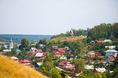 picture of ravines  - The city Plyos the Ivanovo region houses in a ravine