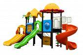 image of playground  - backyard playground for fun games and children - JPG