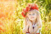 foto of red-necked  - Little girl  - JPG