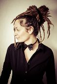 picture of dreadlocks  - Girl with dreadlocks in the photo studio - JPG