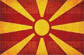 image of macedonia  - The Macedonia grunge flag, Macedonian grunge mosaic flag - JPG