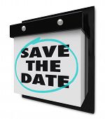 Save The Date - Wall Calendar