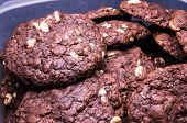 pic of chocolate-chip  - Chocolate cookies with white chocolate chips - JPG