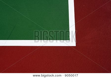 Tennis Court Lines For Background With Room For Copy Space