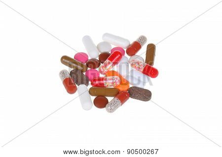 tablets isolated on white