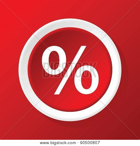 Percent icon on red