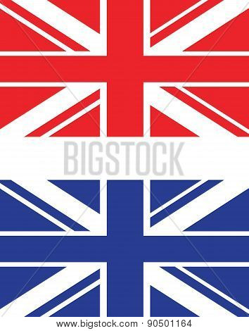 Red And Blue Uk Flag
