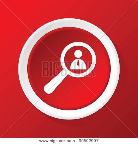 User details icon on red