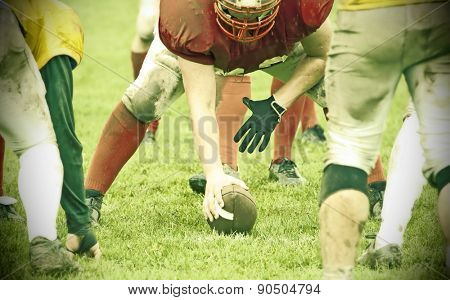 American football game - retro styled photo