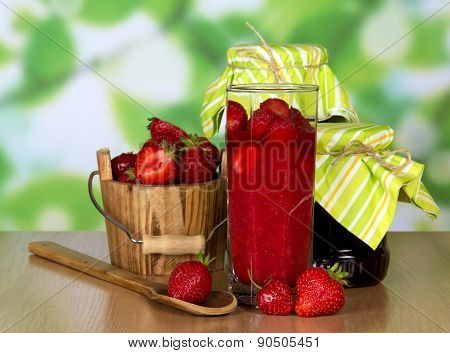 Ripe fragrant strawberries