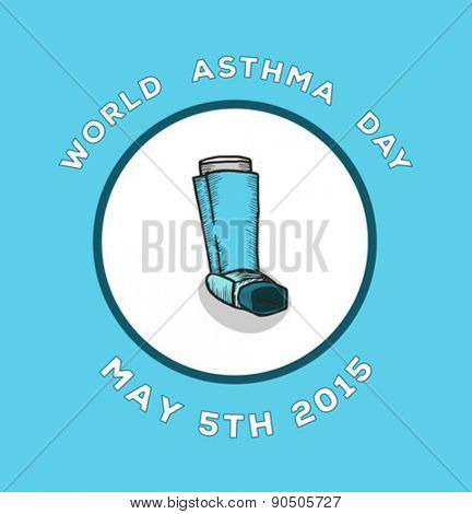 Digitally generated World asthma day vector