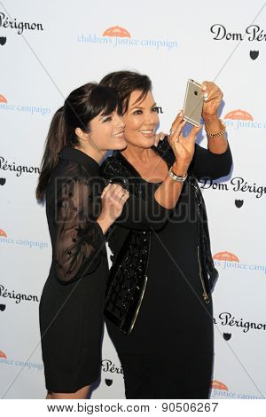 LOS ANGELES - MAY 12:  Selma Blair, Kris Jenner at the Children's Justice Campaign Event at the Private Residence on May 12, 2015 in Beverly Hills, CA