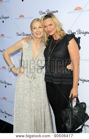 LOS ANGELES - MAY 12:  Kelly Rutherford, Natasha Henstridge at the Children's Justice Campaign Event at the Private Residence on May 12, 2015 in Beverly Hills, CA