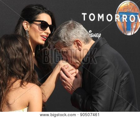 LOS ANGELES - MAY 9:  Amal Alamuddin Clooney, George Clooney at the