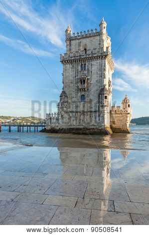 Belem Tower - Torre De Belem  In Lisbon, Portugal