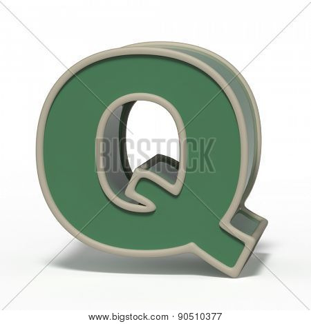 letter Q isolated on white background