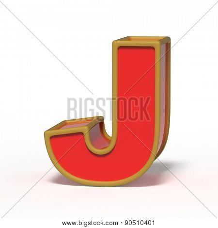 letter J isolated on white background