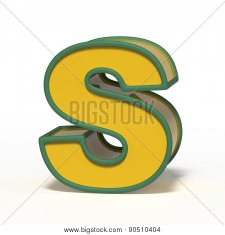 letter S isolated on white background