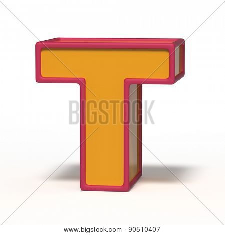 letter T isolated on white background