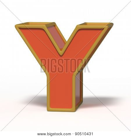 letter Y isolated on white background