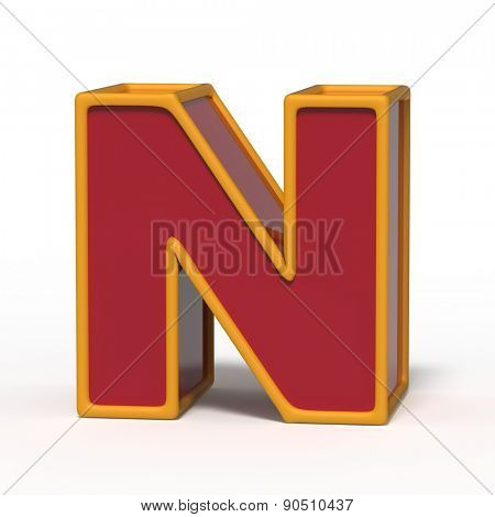 letter N isolated on white background