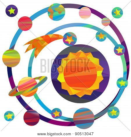 vector images of planets