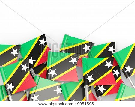 Flag Pin Of Saint Kitts And Nevis