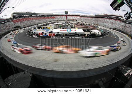 Bristol, TN - Apr 18, 2015:  The NASCAR Xfinity Series teams take to the track for the Drive to Stop Diabetes 300 at Bristol Motor Speedway in Bristol, TN.