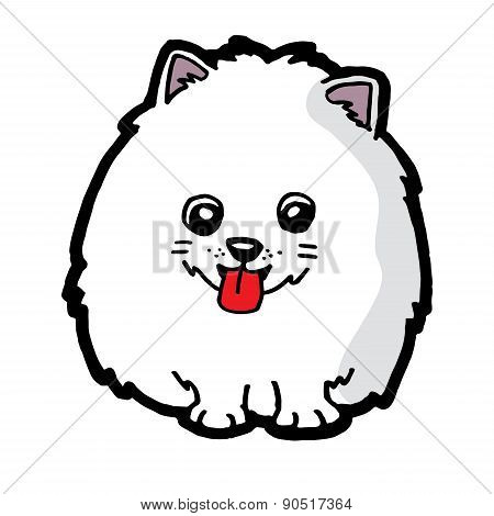 lovely dog vector