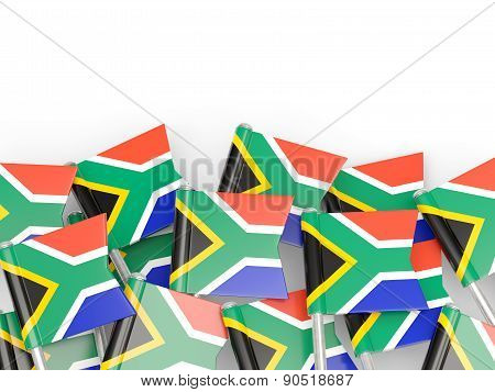 Flag Pin Of South Africa