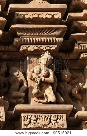 Stone Carved Erotic Sculptures On Jaintemples. Khajuraho