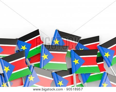Flag Pin Of South Sudan