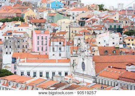 Cityscape of Lisbon capital city of Portugal