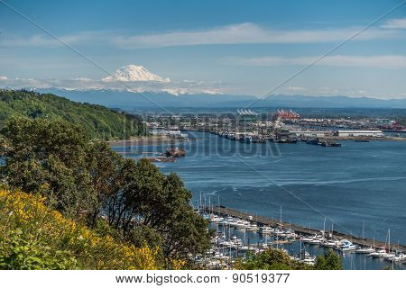 Port Of Tacoma And Mountain 2
