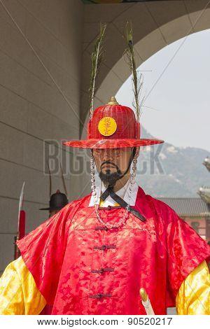 Korean Soldier Costume Vintage Around Gyeongbokgung Palace