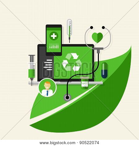 green recycle health medical environment friendly