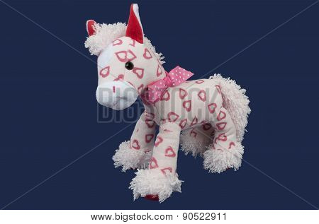 Stuffed Soft Funny Pink Horse Over Purple