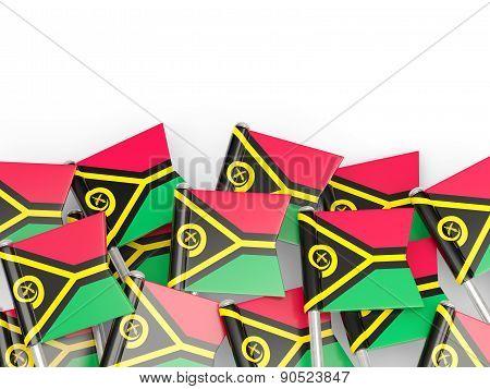 Flag Pin Of Vanuatu