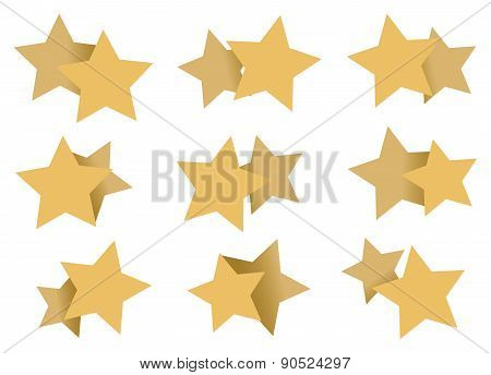Double Stars Patterns Art Element Isolated On White