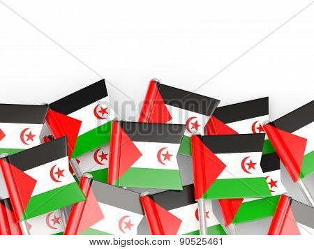 Flag Pin Of Western Sahara