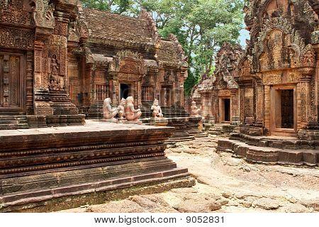 Tempel Banteay Srei in Angkor
