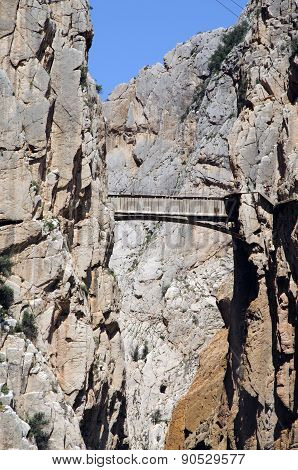 El Chorro Gorge and bridge.