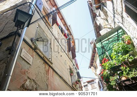 Low Angle View Of Buildings In Rovinj
