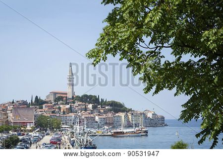 Old Town With Saint Eufemia Church In Rovinj