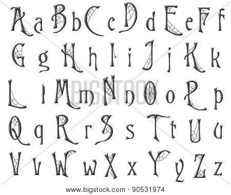 Cobweb Alphabet